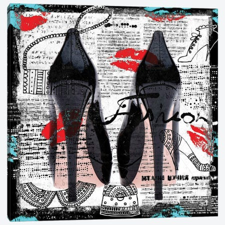 High Heels I Canvas Print #BKR27} by Micha Baker Art Print