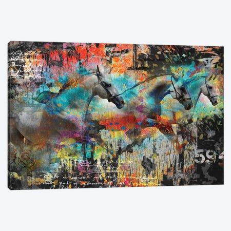 Horses Canvas Print #BKR29} by Micha Baker Canvas Artwork