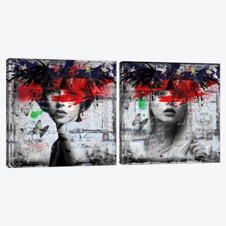 Graceful Diptych Canvas Print Set #BKR2HSET001} by Micha Baker Canvas Artwork