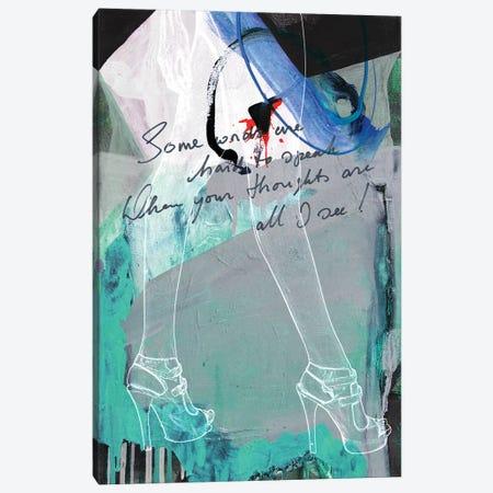 Lady Legs I Canvas Print #BKR33} by Micha Baker Art Print