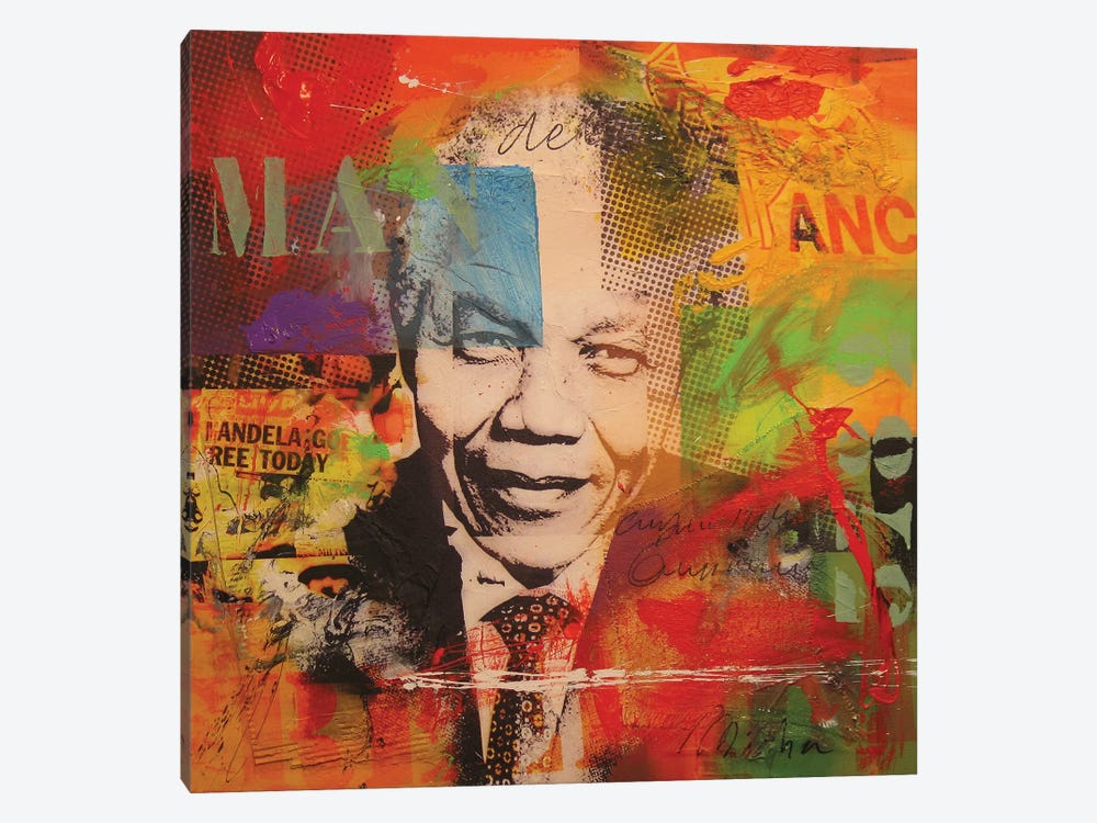 Mandela by Micha Baker 1-piece Canvas Artwork