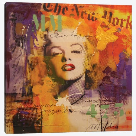 Marilyn III Canvas Print #BKR37} by Micha Baker Canvas Artwork
