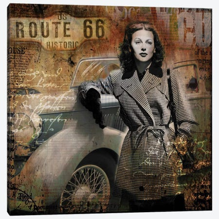 Route 66 Canvas Print #BKR51} by Micha Baker Canvas Art Print