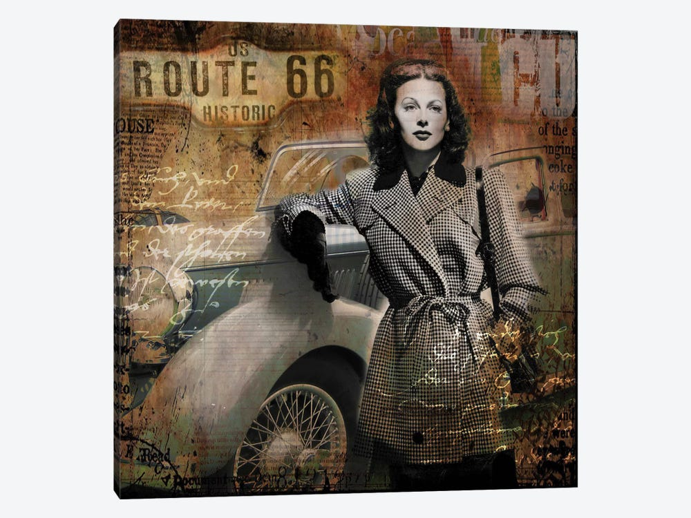 Route 66 by Micha Baker 1-piece Canvas Art Print