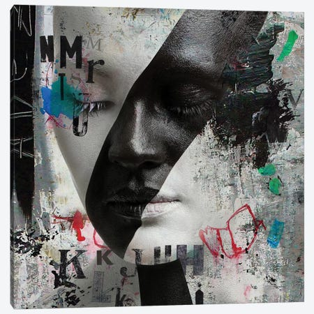 Black Beauty Canvas Print #BKR5} by Micha Baker Canvas Art Print