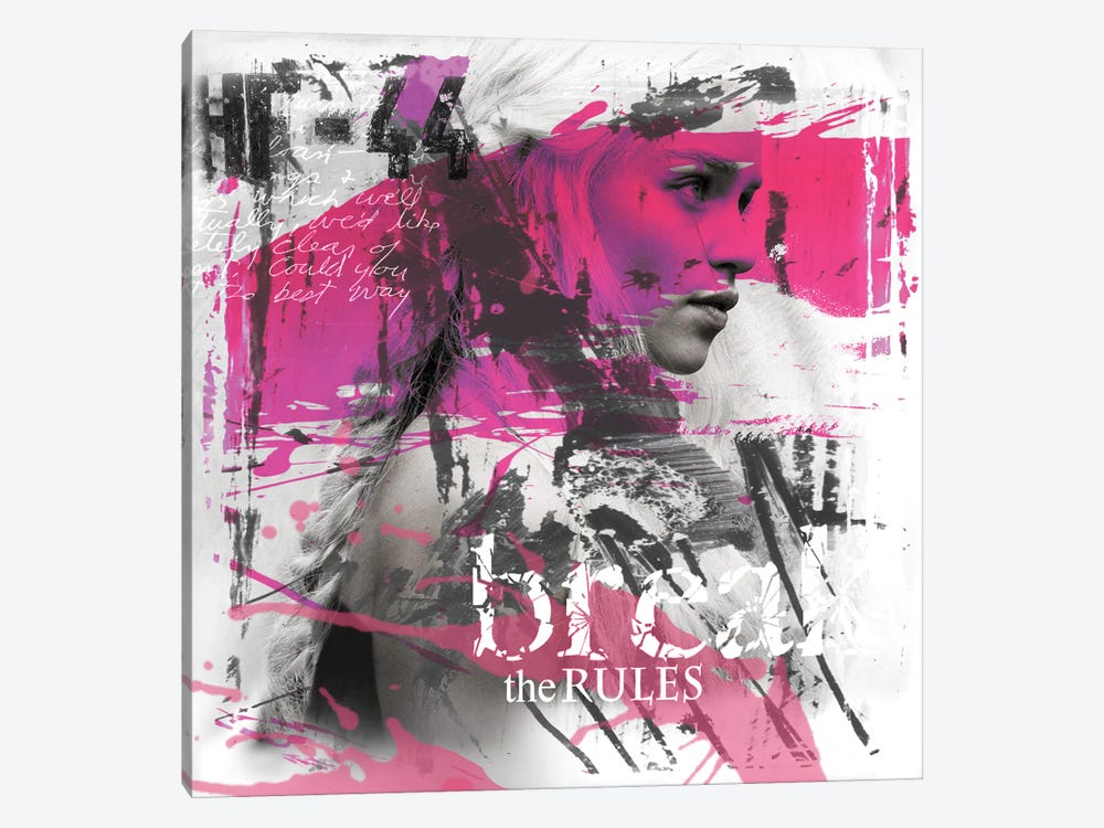Break The Rules by Micha Baker 1-piece Canvas Wall Art