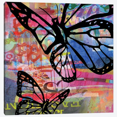 Butterfly I Canvas Print #BKR7} by Micha Baker Art Print