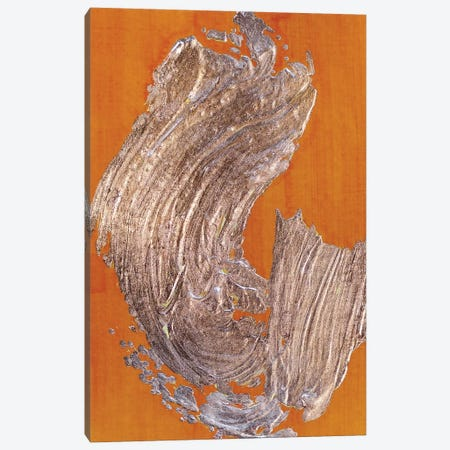 Copper Gesture On Saffron Canvas Print #BKS100} by Caroline Banks Art Print