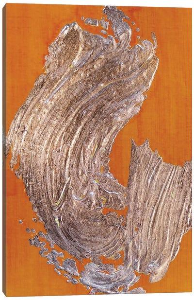 Copper Gesture On Saffron Canvas Art Print