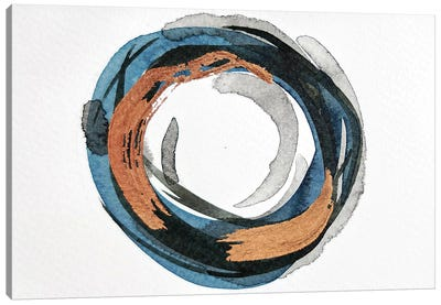 Blue & Copper Study Canvas Art Print