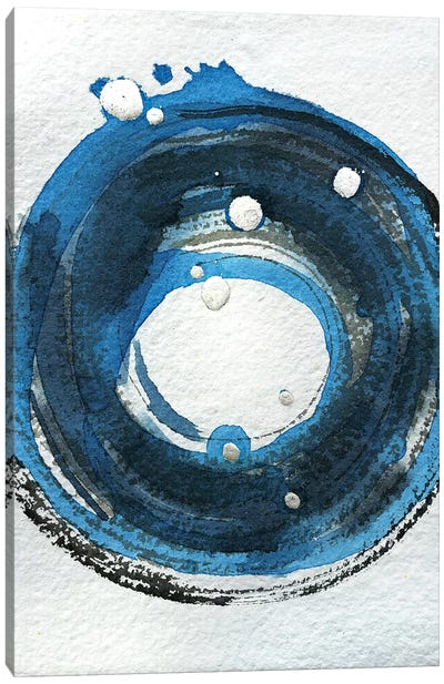 Blue & Silver Study Canvas Art Print