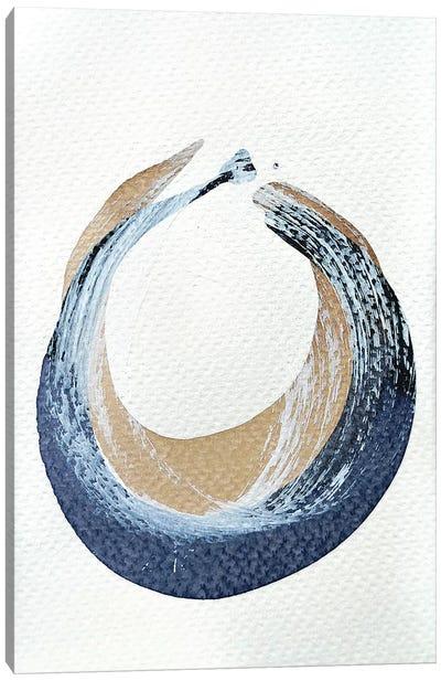Indigo & Walnut Study I Canvas Art Print