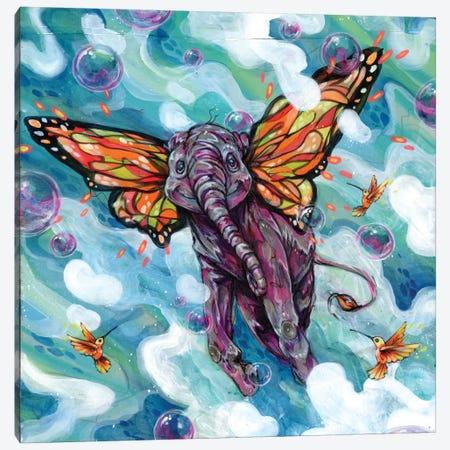 Lollapopaphant Canvas Print #BKT100} by Black Ink Art Canvas Artwork