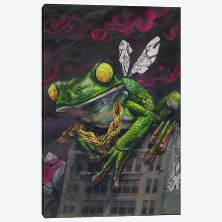 Lord Of The Flies Canvas Print #BKT102} by Black Ink Art Canvas Art