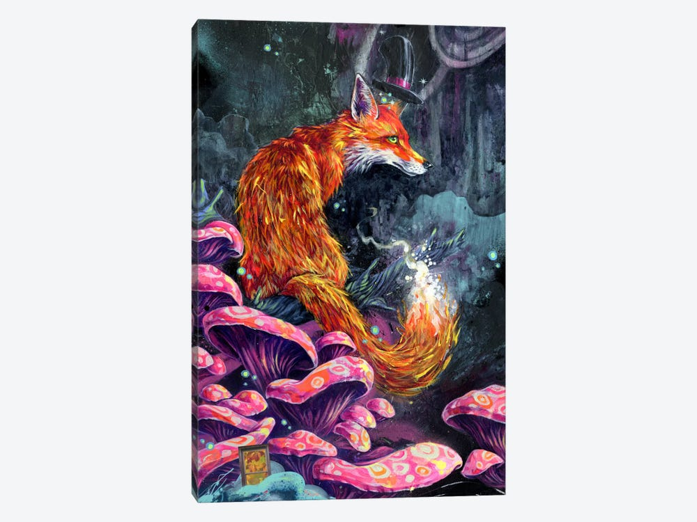 Nice Fox by Black Ink Art 1-piece Canvas Art Print