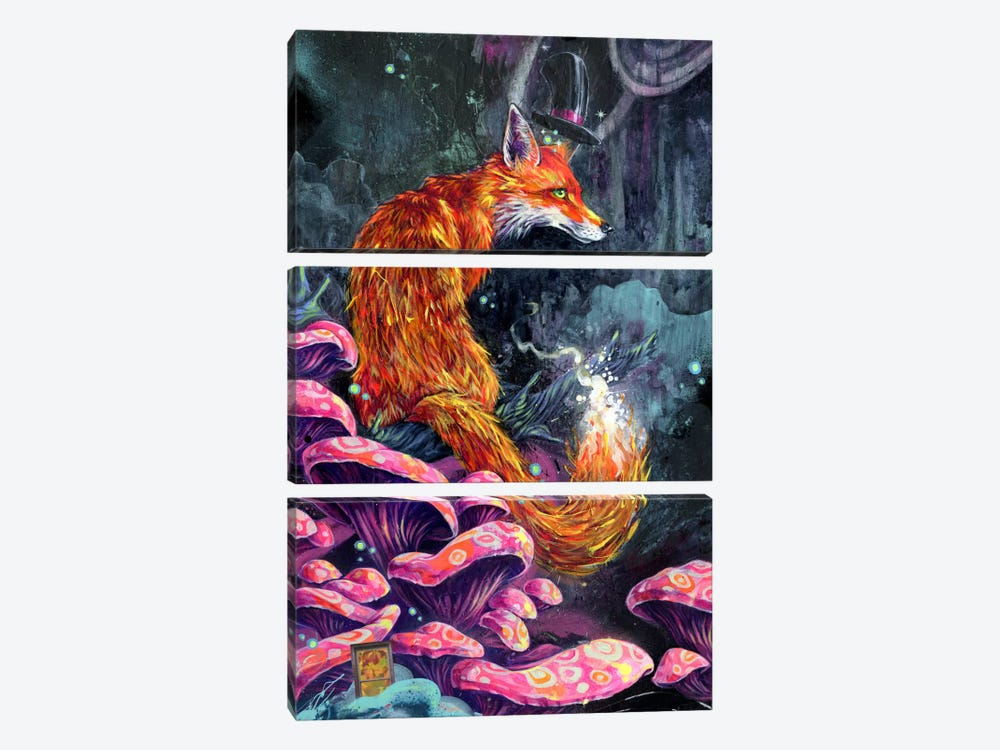 Nice Fox by Black Ink Art 3-piece Art Print