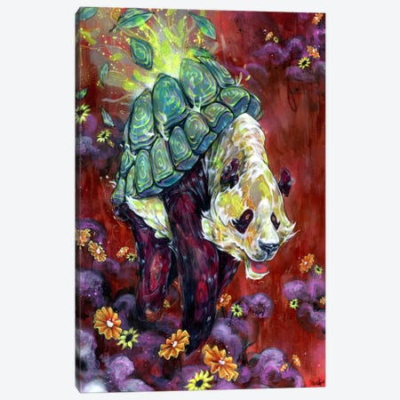 Pandalirium Canvas Print #BKT105} by Black Ink Art Canvas Print