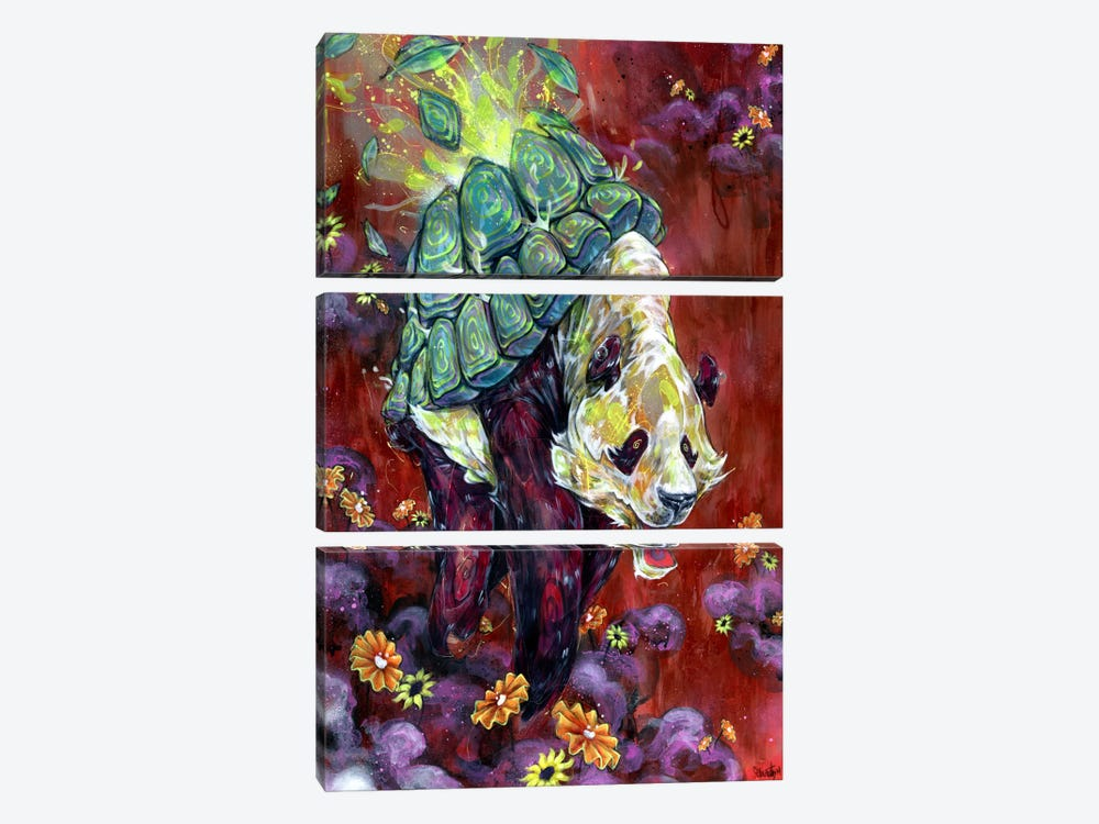 Pandalirium by Black Ink Art 3-piece Art Print
