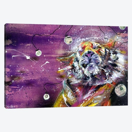 Paperless Tiger Canvas Print #BKT106} by Black Ink Art Canvas Print