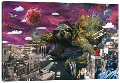 Sloth Cometh Canvas Art Print