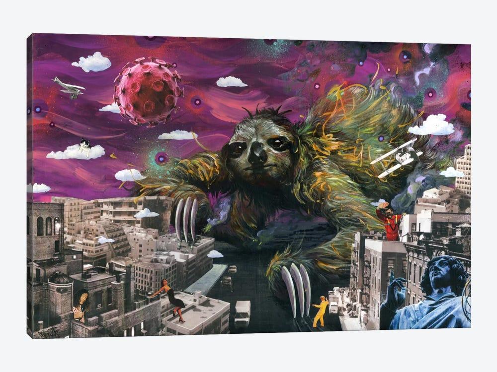Sloth Cometh by Black Ink Art 1-piece Canvas Art Print