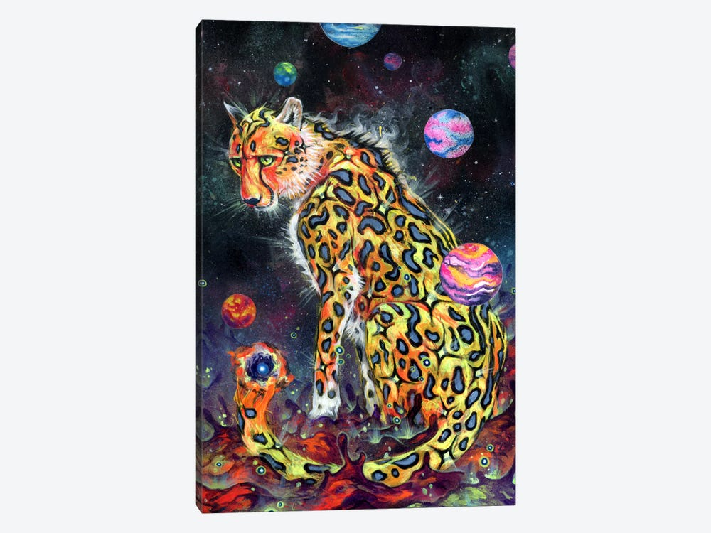 Space Cheetah by Black Ink Art 1-piece Canvas Print