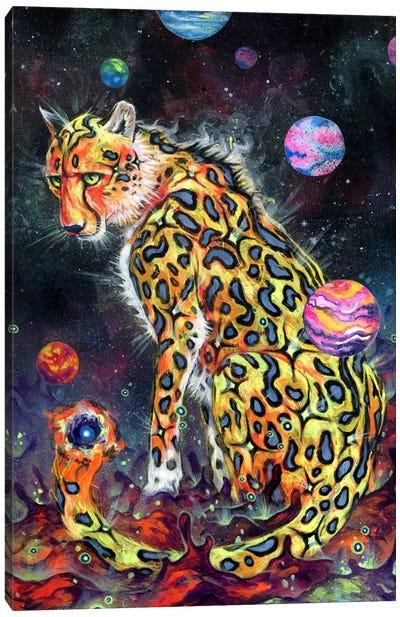 Space Cheetah Canvas Art Print