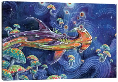 Shark Tea Canvas Art Print