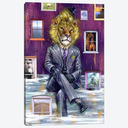 Through The Looking Glass Canvas Print #BKT120} by Black Ink Art Canvas Wall Art