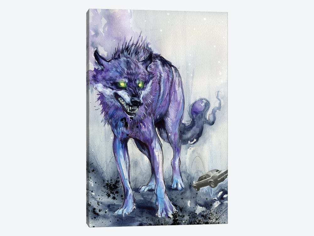 Fever Wolf by Black Ink Art 1-piece Art Print