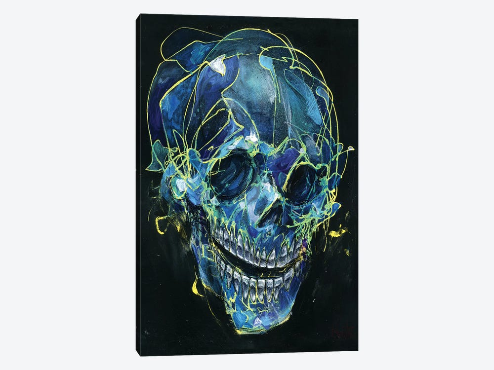Cold Skull by Black Ink Art 1-piece Canvas Print