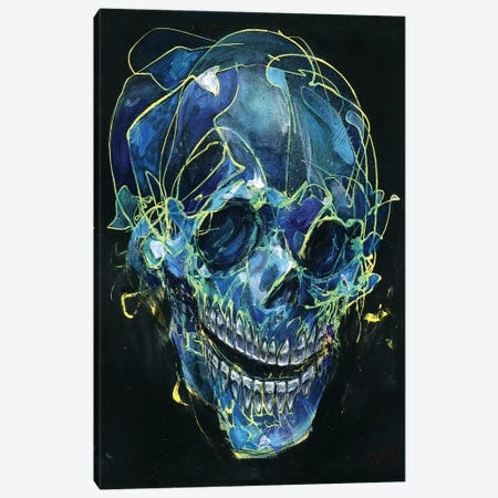 Cold Skull Canvas Print #BKT130} by Black Ink Art Canvas Print