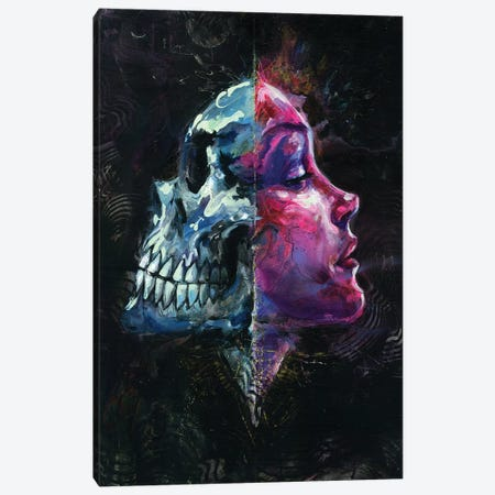 Death Reflects Sex Canvas Print #BKT133} by Black Ink Art Canvas Art Print