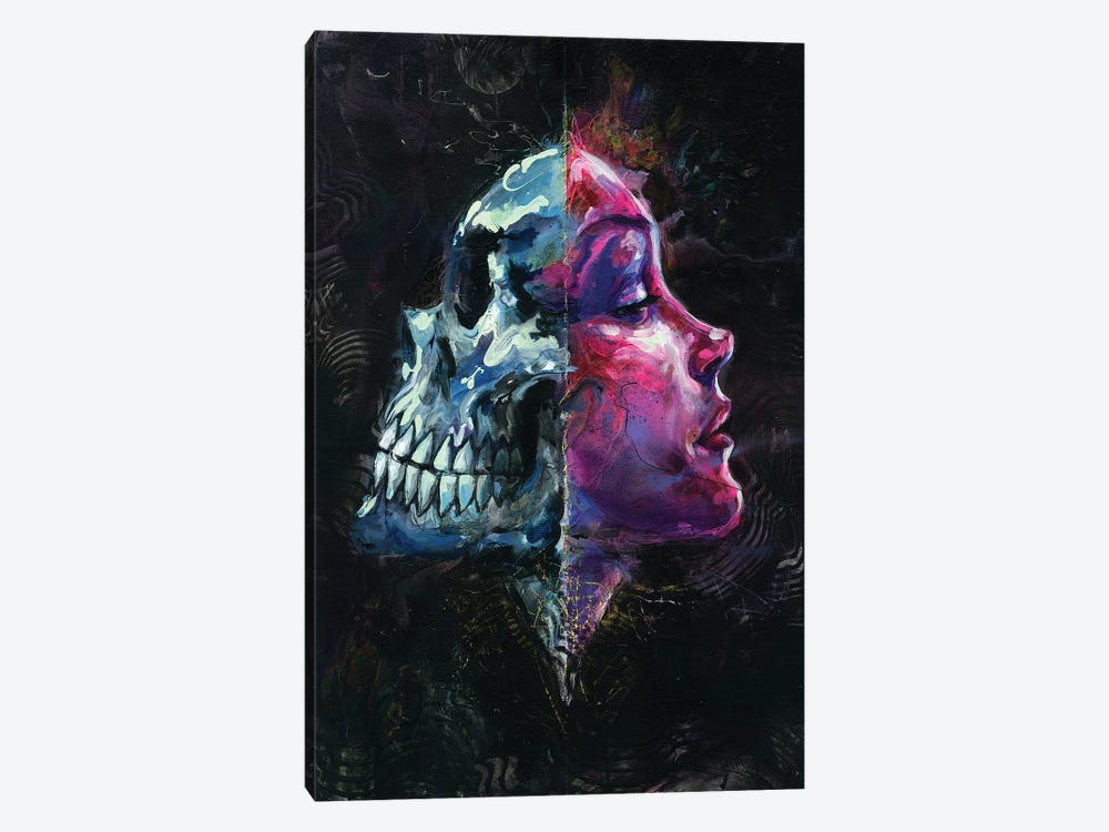 Death Reflects Sex by Black Ink Art 1-piece Canvas Artwork