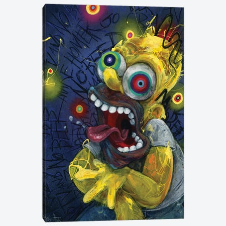 Homer Canvas Print #BKT140} by Black Ink Art Canvas Wall Art