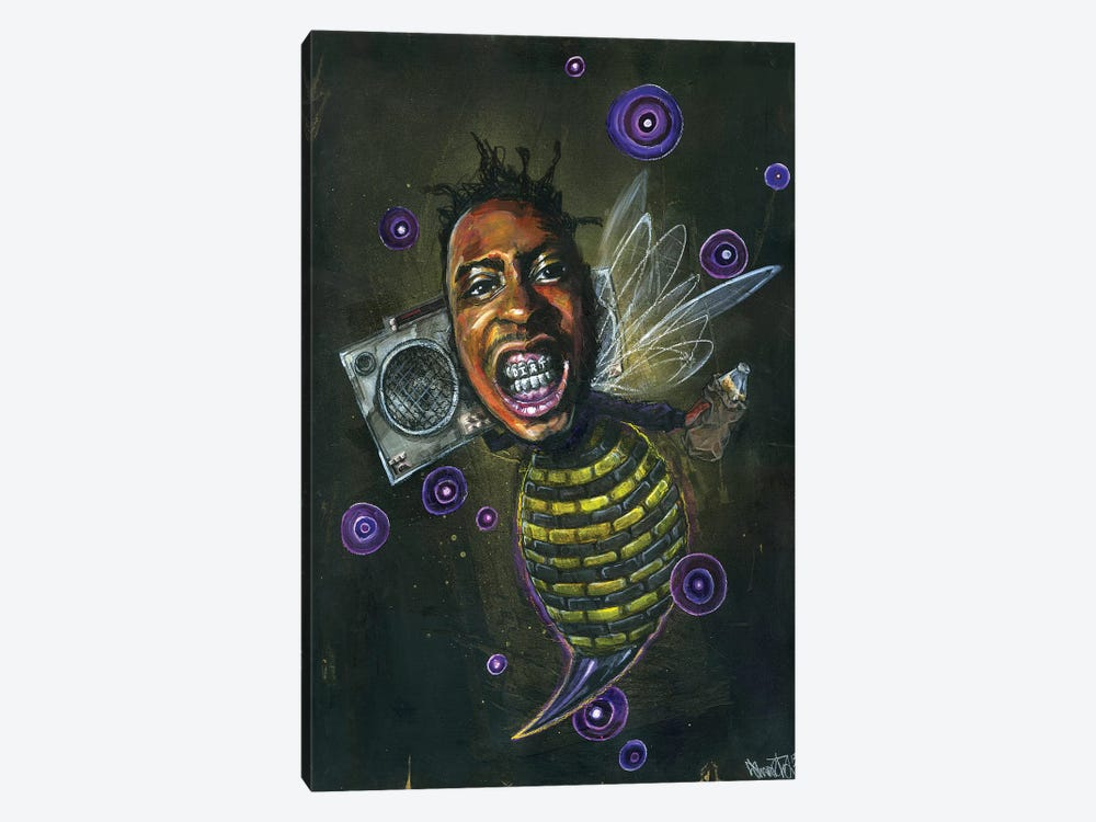 O.D.Bee by Black Ink Art 1-piece Canvas Print