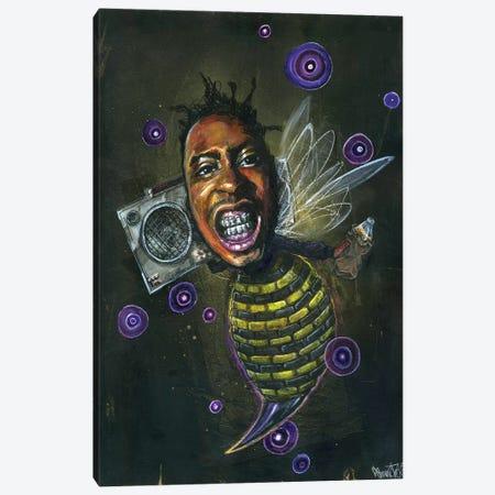 O.D.Bee Canvas Print #BKT143} by Black Ink Art Canvas Art