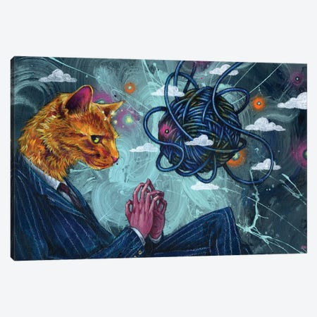 Diabolical Dog Canvas Print #BKT149} by Black Ink Art Canvas Art