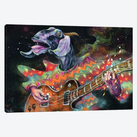 Groovin' Gary Canvas Print #BKT154} by Black Ink Art Canvas Art