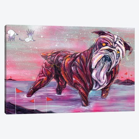 L.S.Dog Canvas Print #BKT156} by Black Ink Art Canvas Wall Art