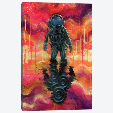 Spaceman Spliff Canvas Print #BKT15} by Black Ink Art Canvas Wall Art