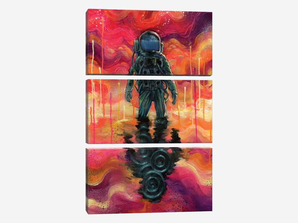 Spaceman Spliff by Black Ink Art 3-piece Art Print
