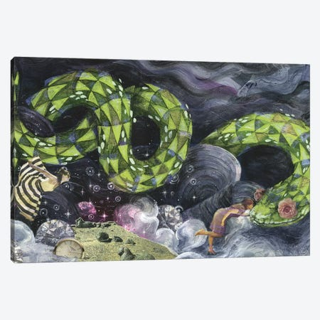 Sparkle Garden Canvas Print #BKT16} by Black Ink Art Canvas Art