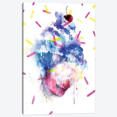 Sweet Sheekey Canvas Print #BKT19} by Black Ink Art Canvas Art Print