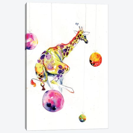 Planet Hopper Canvas Print #BKT1} by Black Ink Art Canvas Wall Art