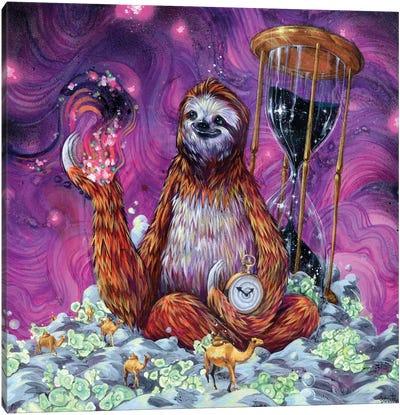 Time Master Poop Sloth Canvas Art Print