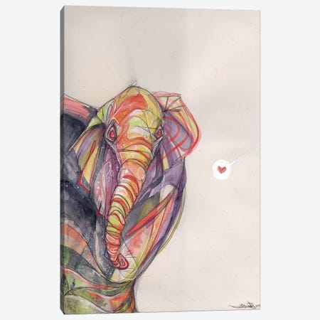 Timid Approach Canvas Print #BKT22} by Black Ink Art Canvas Wall Art