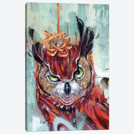 Wanna Get Coffee Canvas Print #BKT23} by Black Ink Art Canvas Wall Art