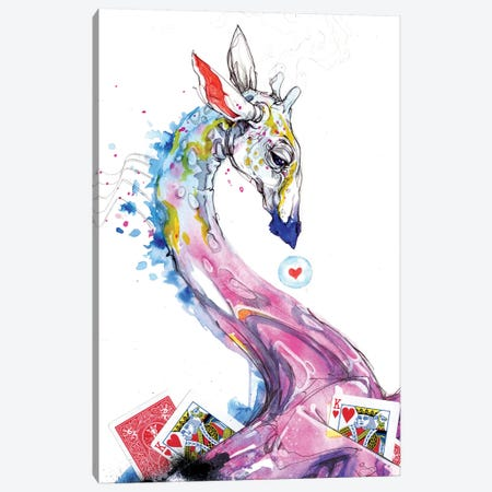 White Magic Memory Foam Canvas Print #BKT25} by Black Ink Art Canvas Art Print