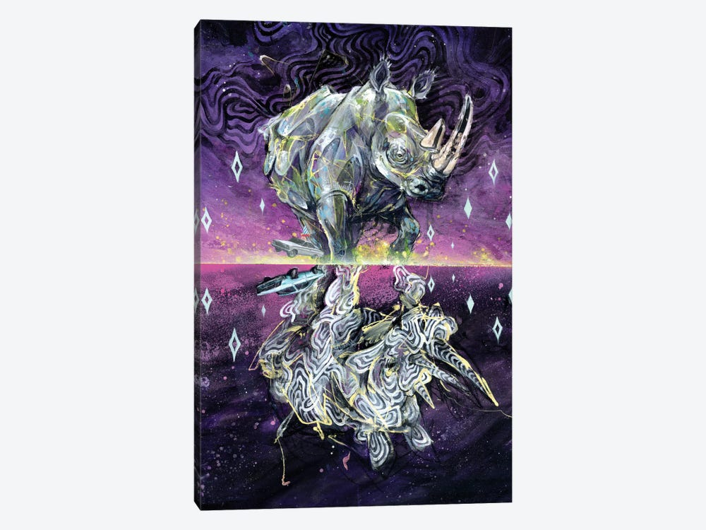 Albino Rhino by Black Ink Art 1-piece Canvas Wall Art